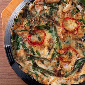 ニラチヂミ|赤坂のサムギョプサルが美味しい韓国料理店「やさい村大地赤坂田町通り店」