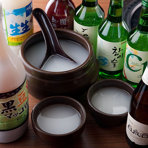 赤坂の焼肉店『やさい村大地 赤坂本店』で韓国酒