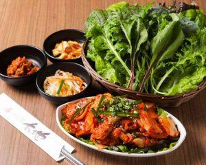 豚キムチサンパ弁当 赤坂のサムギョプサルが美味しい韓国料理店「やさい村大地赤坂田町通り店」