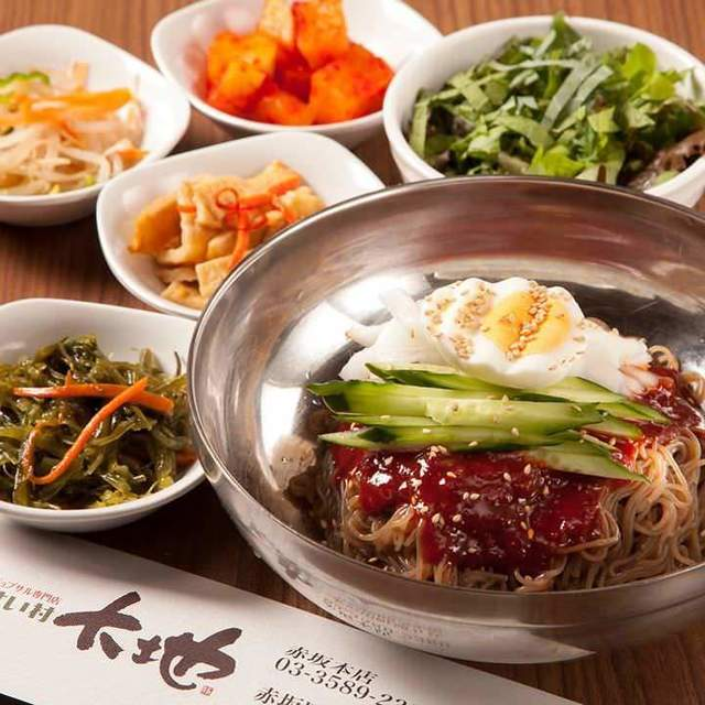 赤坂田町通りにあるサムギョプサルと新鮮野菜が楽しめる「やさい村大地 赤坂田町通り店」の「ビビン麺」の画像